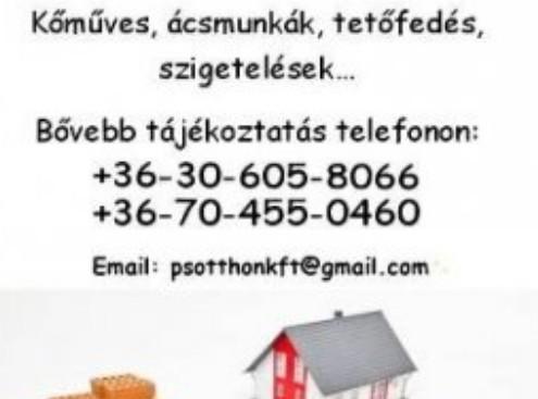 Kőműves munkák, Ácsmunkák - PS-Mór Újház Építő Kft.