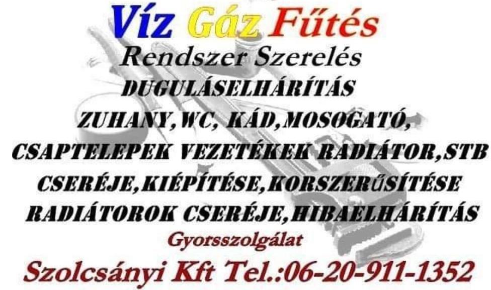 Vízszerelés, Gázszerelés, Fűtésszerelés Budapest és Pest megye