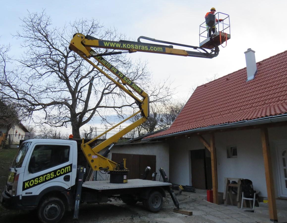 Emelőkosaras autó bérbeadás, favágás, homlokzatfelújítás – www.kosaras.com