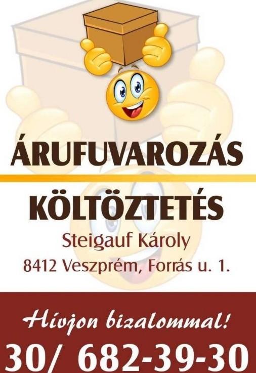 Árufuvarozás, Költöztetés Veszprém 30/682-3930