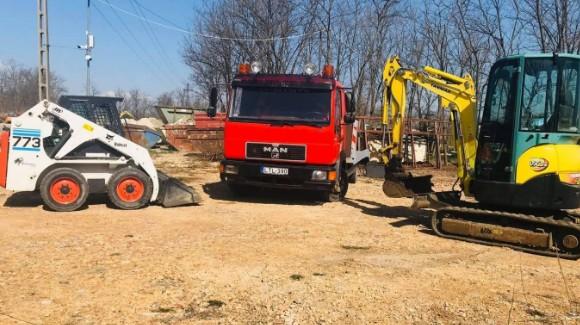 Gépi földmunka, Tereprendezés, Árokásás Budapest, Pest megye