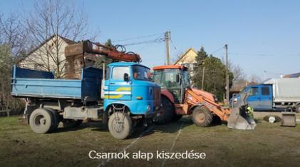 Gépi földmunka, Alapásás, Tereprendezés Szeged